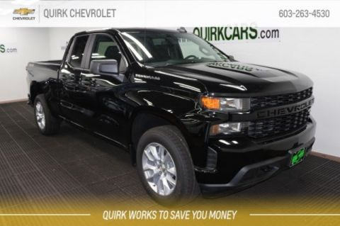"2019 Chevrolet Silverado 1500 Dbl. Cab 5.3L V8 4x4, Custom, w 20"" Chrome Wheels"